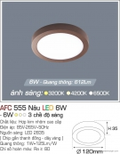Đèn Áp Trần LED Đổi Màu 6W AFC 555N Ø120