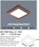 Đèn Led Vuông Ốp Trần AFC 556N 6W