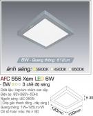 Đèn ốp Trần Led Vuông AFC 556X 6W