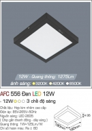 Đèn Áp Trần LED 12W AFC 556D 180x180