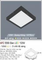 Đèn Áp Trần LED Đổi Màu 12W AFC 556D 180x180