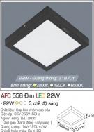 Đèn Áp Trần LED Đổi Màu 22W AFC 555D Ø300