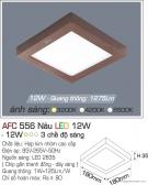 Đèn Áp Trần LED Đổi Màu 12W AFC 556N 180x180