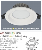 Đèn Downlight LED Đổi Màu 12W AFC 572 Ø135