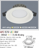 Đèn Downlight LED Đổi Màu 9W AFC 572 Ø110