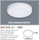 Đèn Áp Trần LED 18W AFC 573 Ø220