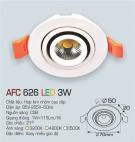 Đèn LED Âm Trần Gắn Tủ 3W AFC 626 Ø50