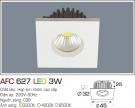Đèn LED Âm Trần Gắn Tủ 3W AFC 627 Ø32