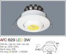 Đèn LED Âm Trần Gắn Tủ 3W AFC 629 Ø40