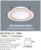 Đèn Downlight LED Đổi Màu 12W AFC 674V Ø114