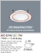 Đèn Downlight LED Đổi Màu 7W AFC 674V Ø80
