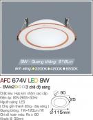 Đèn Downlight LED Đổi Màu 9W AFC 674V Ø90