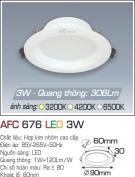 Đèn LED Âm Trần Gắn Tủ 3W AFC 676 Ø60
