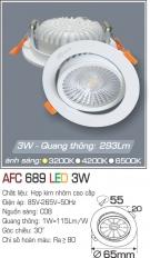 Đèn Mắt Ếch LED 3W AFC 689 Ø55