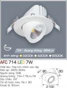 Đèn LED Âm Trần Chỉnh Hướng 7W AFC 714 Ø90