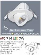 Đèn Led Âm trần Xoay Góc 7W AFC 714