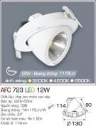 Đèn LED Âm Trần Chỉnh Hướng 12W AFC 723 Ø114