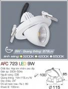 Đèn LED Âm Trần Chỉnh Hướng 9W AFC 723 Ø100