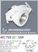 Đèn Led Âm Trần Xoay Góc 12W AFC 723