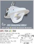 Đèn Led Âm Trần Chiếu Rọi 24độ 5W AFC 724