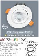 Đèn Mắt Ếch LED 12W AFC 731 Ø120