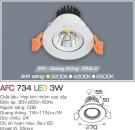 Đèn Mắt Ếch LED 3W AFC 734 Ø55