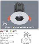 Đèn Mắt Ếch LED 9W AFC 738 Ø75