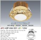 Đèn LED Âm Trần AFC Hợp Kim 001 12W Ø100