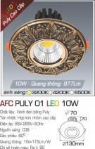 Đèn Led Âm Trần Cổ Điển 10W AFC Puly 01 Φ70
