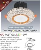 Đèn LED Âm Trần Cổ Điển 12W AFC Puly 03L Ø100