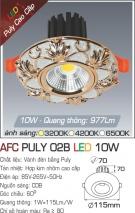Đèn LED Âm Trần 10W  AFC Puly 02B Ø70