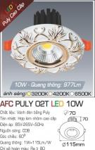 Đèn LED Âm Trần Cổ Điển 10W AFC Puly 02T Ø70
