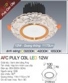 Đèn LED Âm Trần AFC Puly 03L 12W Ø100