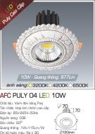 Đèn LED Âm Trần AFC Puly 04 10W Ø70