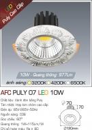 Đèn LED Âm Trần AFC Puly 07 10W Ø70