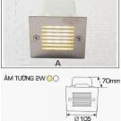 Đèn Âm Tường AFC LED 2W Mẫu A 105x105
