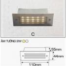 Đèn Âm Tường AFC LED 2W Mẫu C
