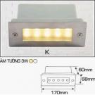 Đèn Âm Tường AFC LED 3W Mẫu K