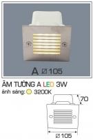 Đèn Âm Tường AFC LED 3W Mẫu A 105x105