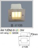 Đèn Âm Tường AFC LED 3W Mẫu B 105x105