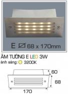 Đèn Âm Tường AFC LED 3W Mẫu E