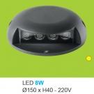 Đèn Lắp Sàn LED 8W UASN05 Ø150