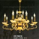 Đèn Chùm Nến Đồng ECD760 Ø880