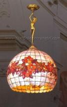 Đèn Thả Đồng Kính Ghép Màu ECD769 Ø400