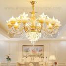 Đèn Chùm Pha Lê Nến LH-CNQT99-21 Ø900