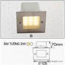 Đèn Âm Tường AFC LED 2W Mẫu B 105x105