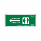 Đèn Chỉ Dẫn Toilets Lưu Điện 0611AG