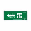 Đèn Chỉ Dẫn Toilets Lưu Điện 0601AG