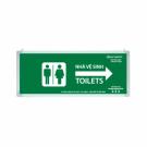 Đèn Chỉ Dẫn Toilets Lưu Điện 0612AG