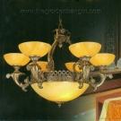 Đèn Chùm Đồng Đá Cao Cấp KD036 Ø800